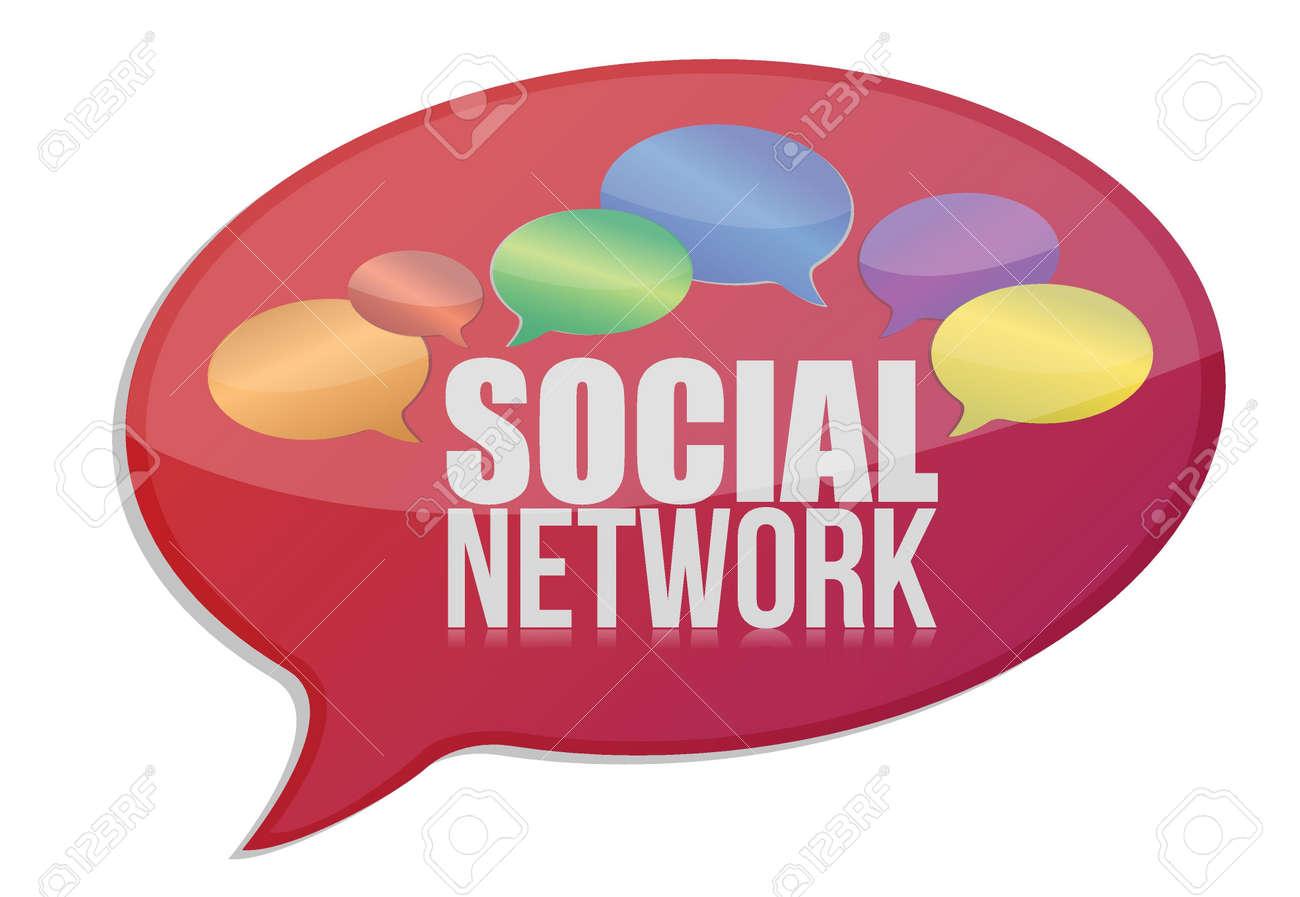 Social media network message icon illustration design over white Stock Vector - 17539448