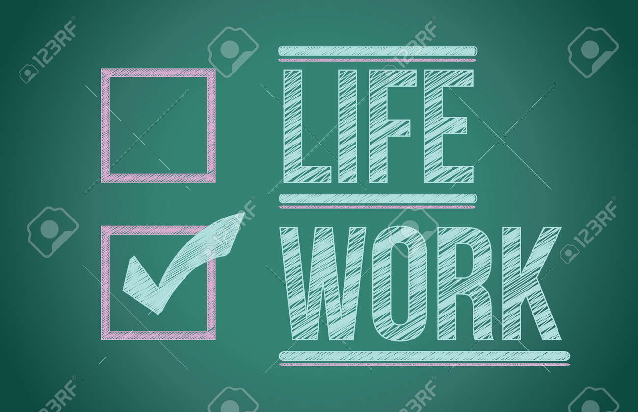 Life and work choices illustration design on a blackboard Stock Vector - 17568870