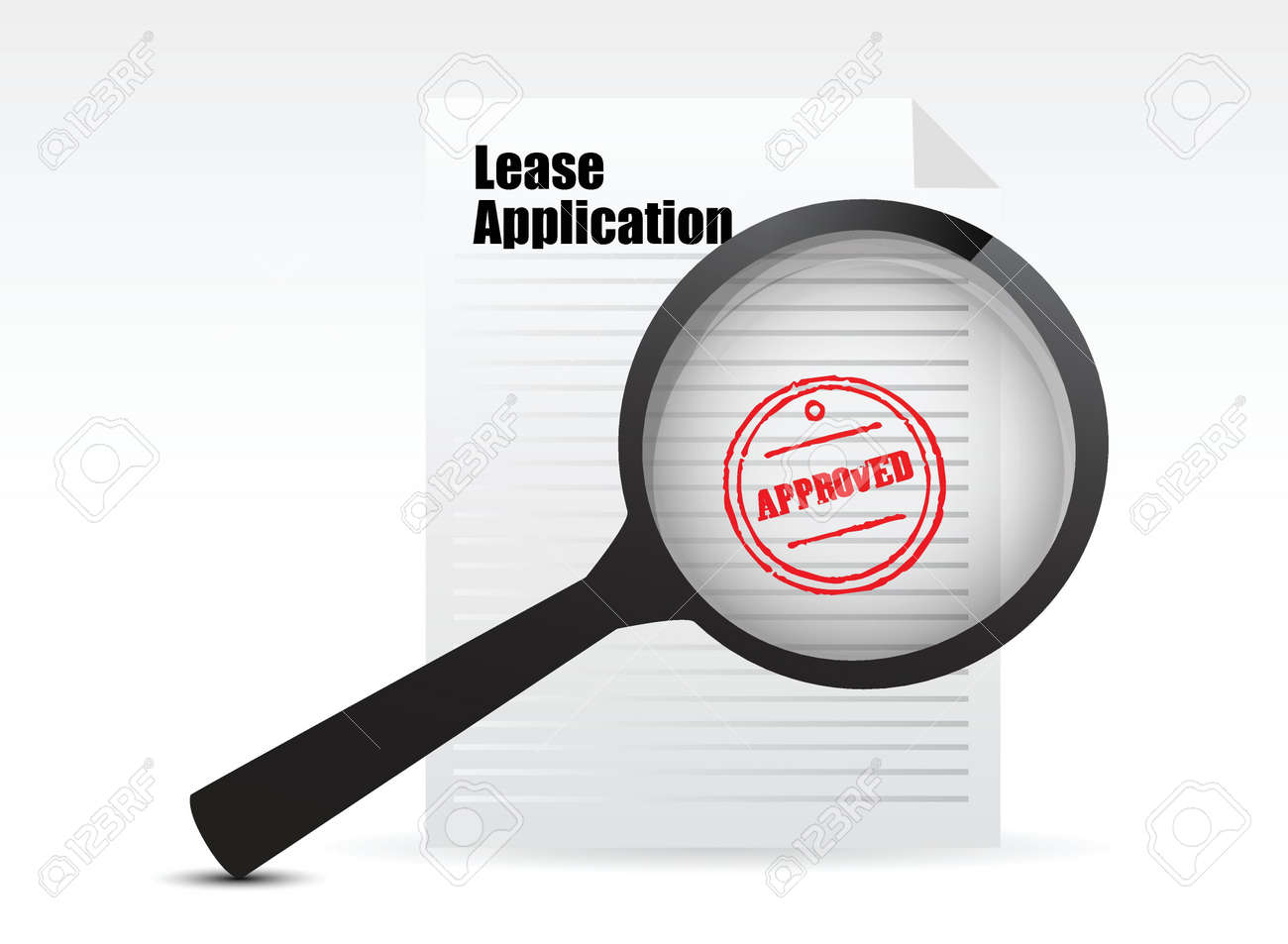 Lease Applications sign illustration design over white Stock Vector - 17662733