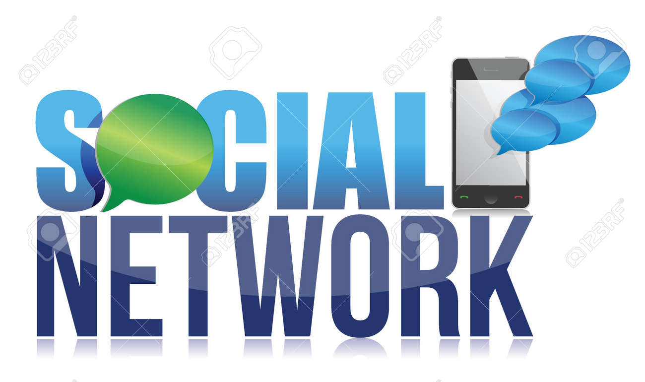 Social network concept illustration design over a white background Stock Vector - 17662695