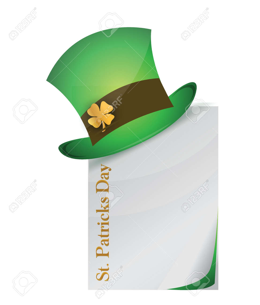 page and St. Patrick's Day hat with clover illustration design Stock Vector - 17695267