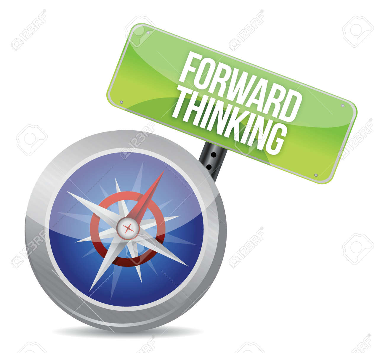 Forward Thinking compass illustration design over a white background Stock Vector - 17824061