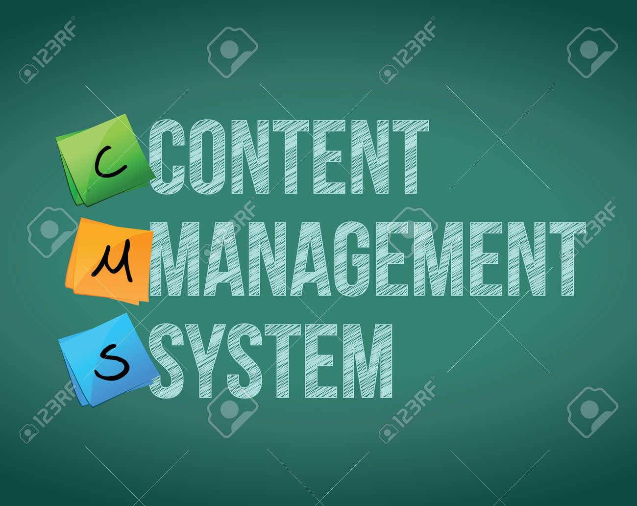 Content Management System illustration design over a white background - 17824011