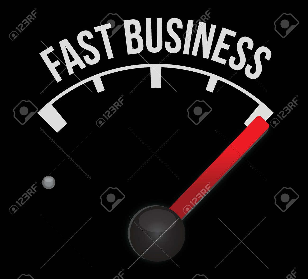 fast business meter scoring high speed illustration design over white Stock Vector - 17823945