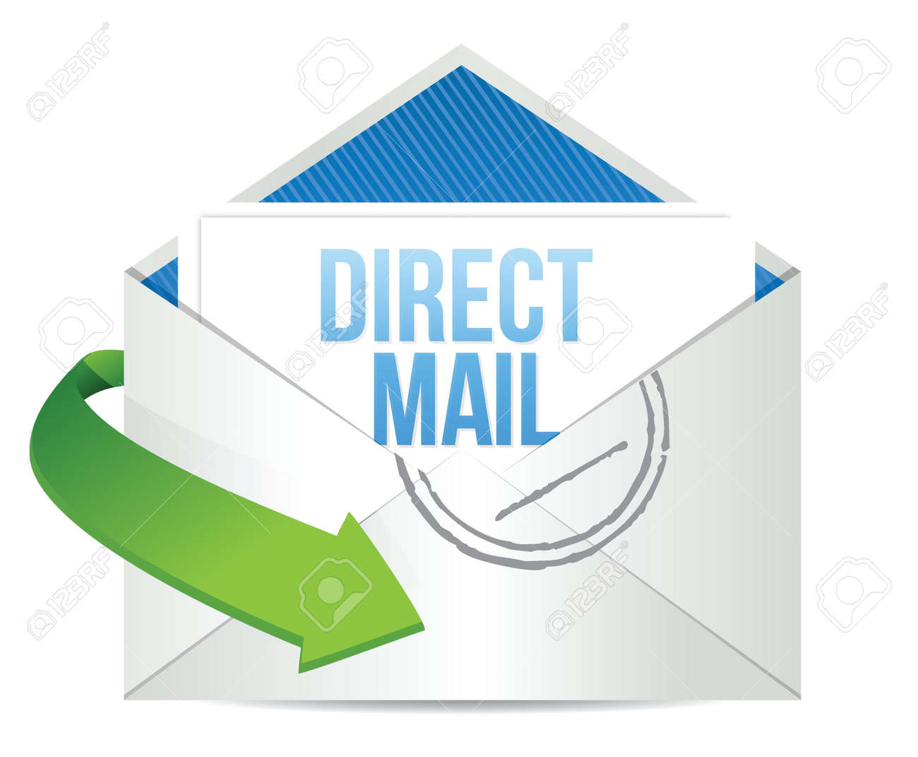 advertising Direct Mail working concept illustration design over a white background Stock Vector - 17871955