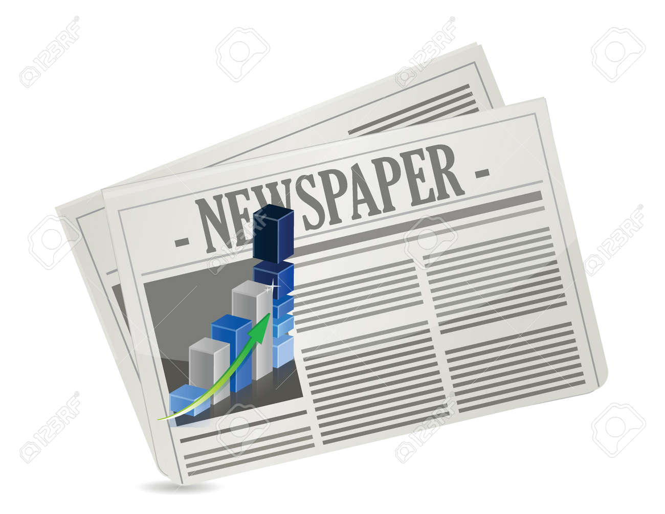 business newspaper graph illustration design over a white background Stock Vector - 17871954