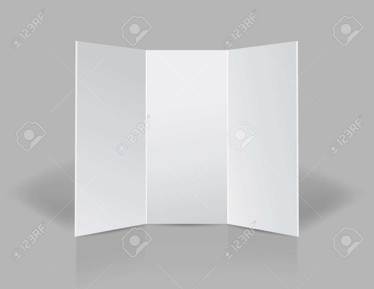 tri fold presentation blank leaflet illustration design over a grey background Stock Illustration - 17870856