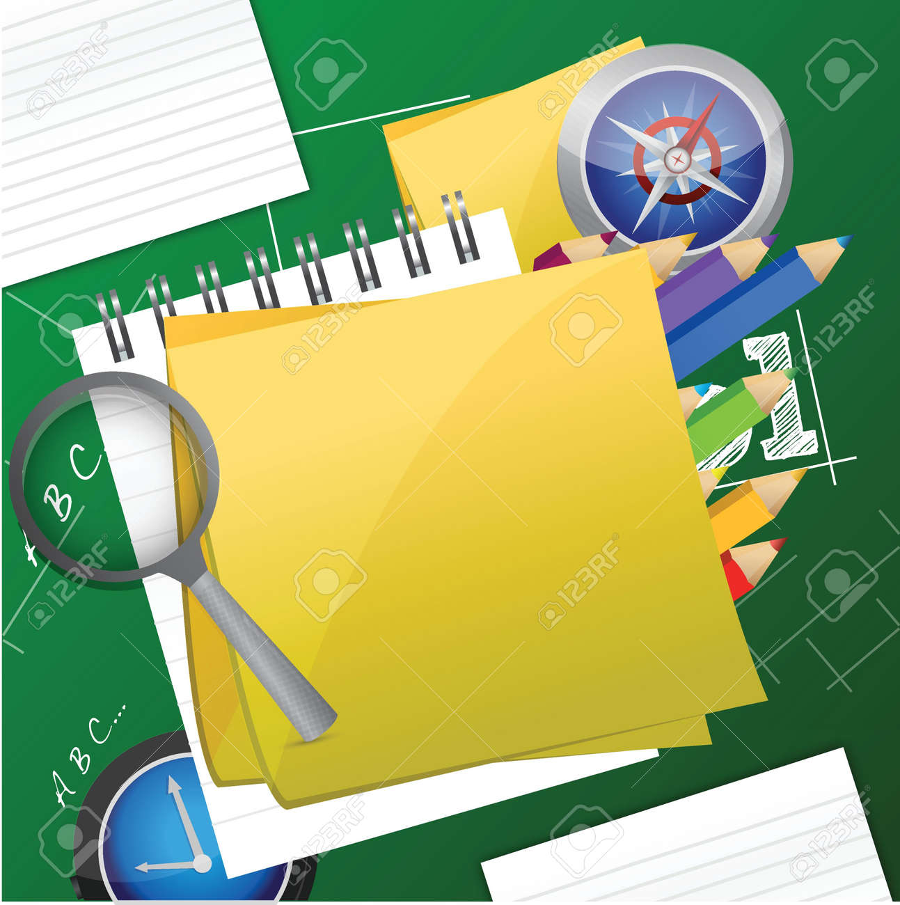 Office and student accessories graphic illustration design Stock Vector - 18063805