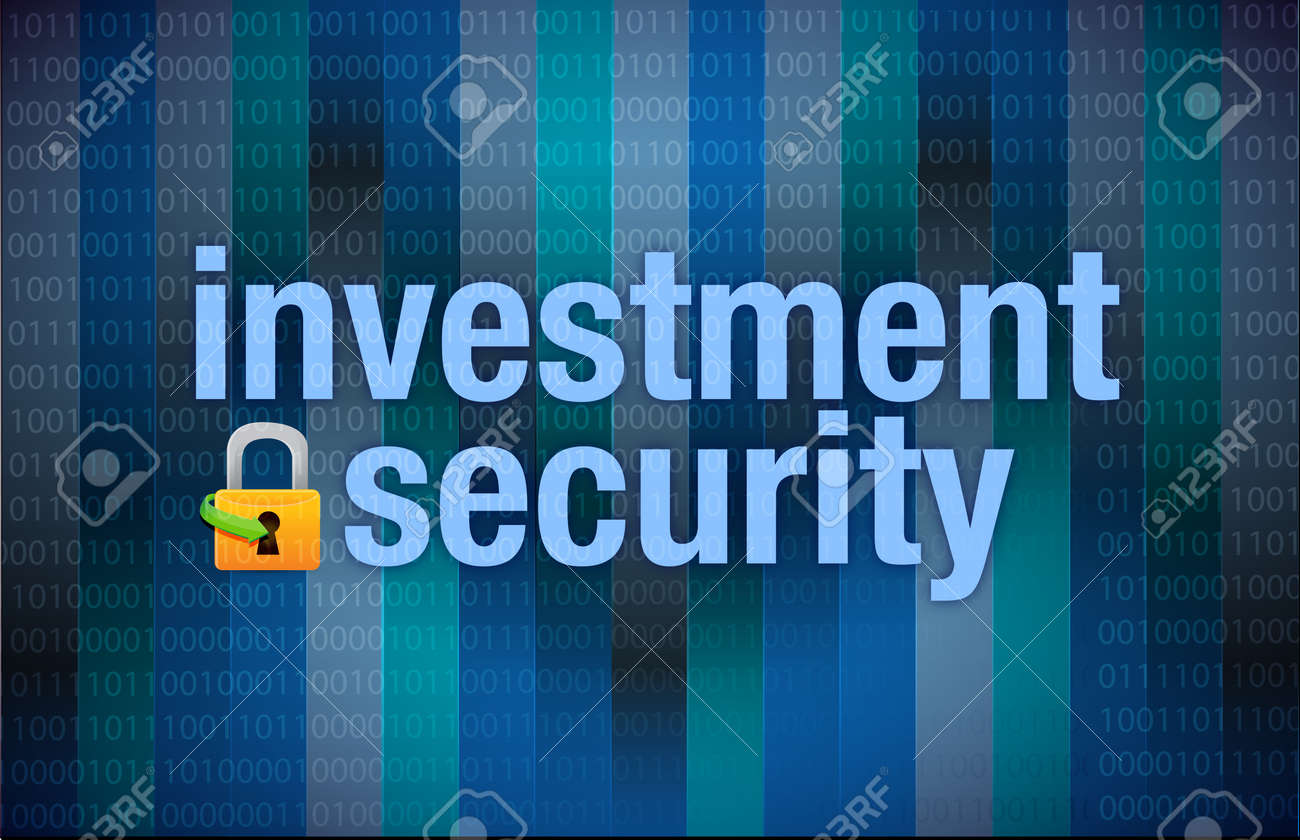 Protection concept investment security binary illustration design Stock Photo - 18063421