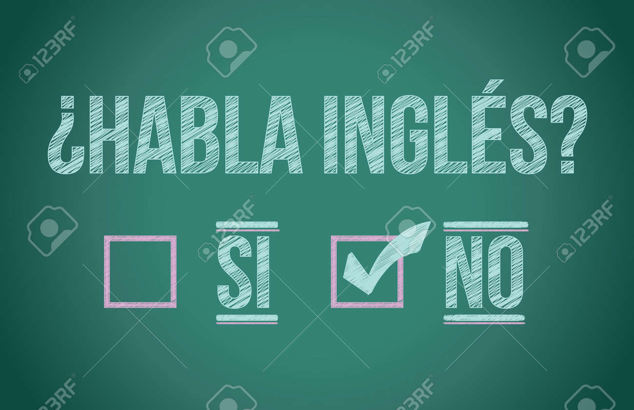 Do you speak English in spanish illustration design graphic Stock Vector - 18158662