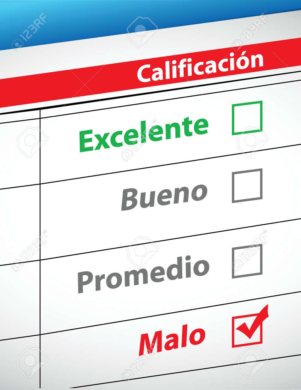 feedback selection concept in Spanish illustration design Stock Vector - 18158677