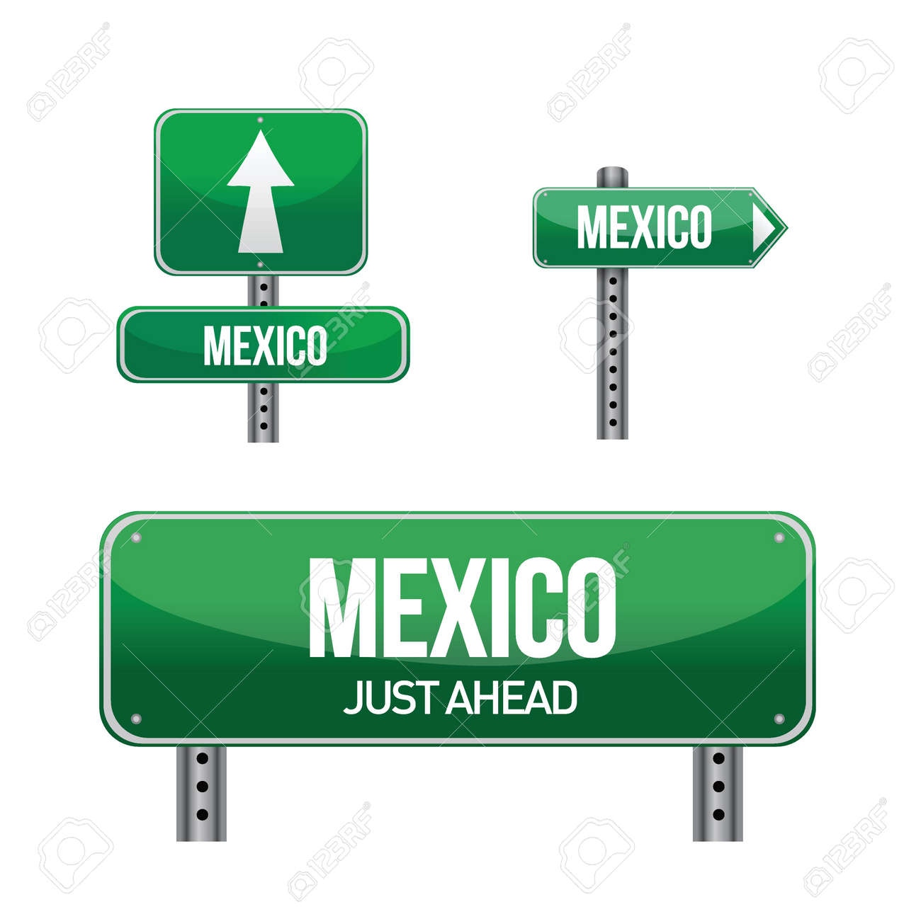 Vector - mexico Country road Mexico Country Vector
