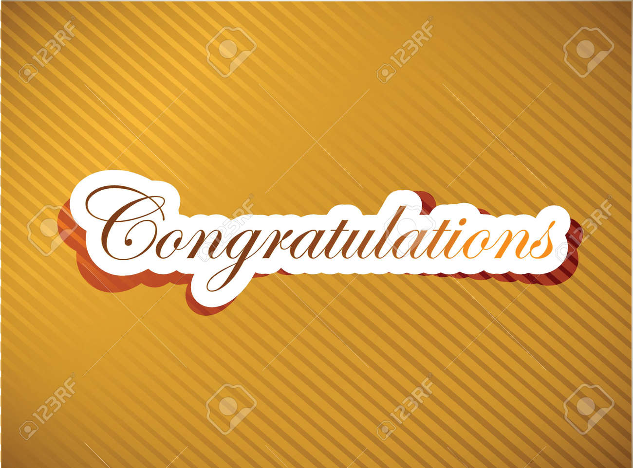 Congratulations lettering illustration design on a gold background Stock Vector - 18210401