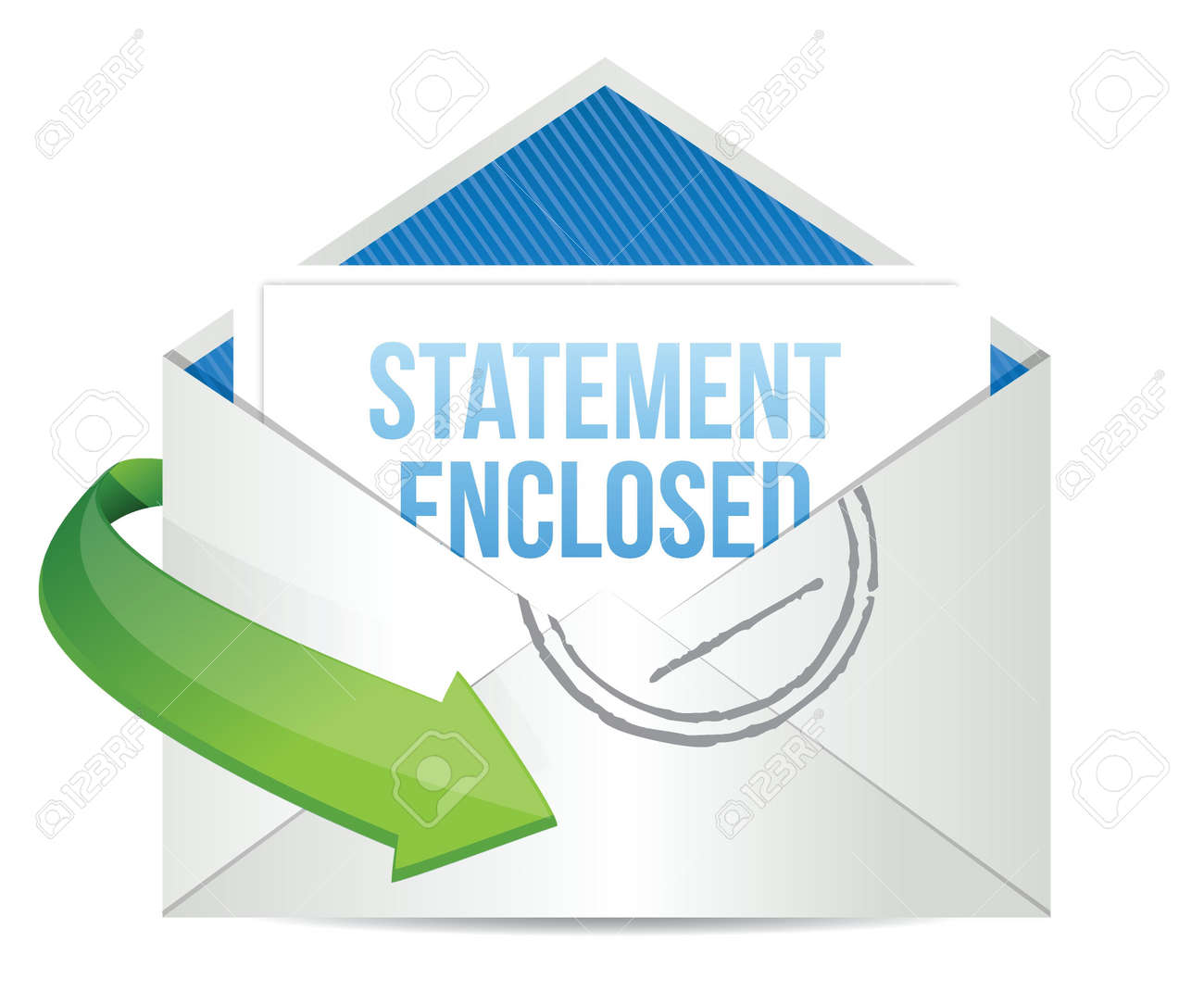 statement enclosed envelope mail correspondence illustration design over white Stock Vector - 18278971
