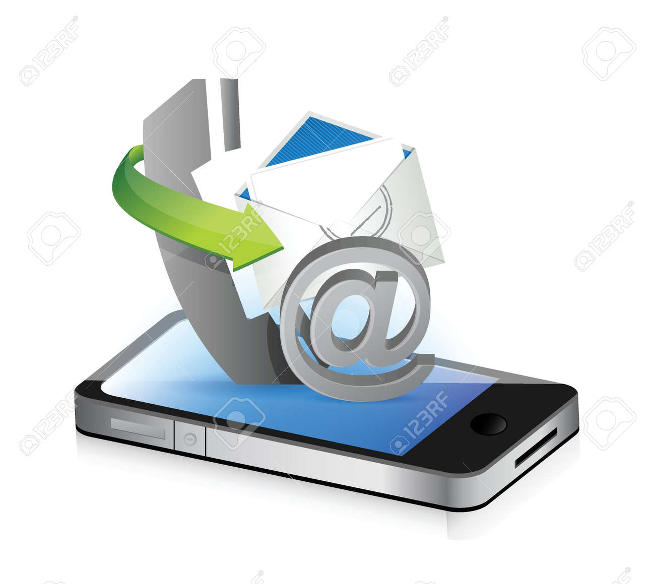 contact us smartphone illustration design concept graphic Stock Vector - 18279004