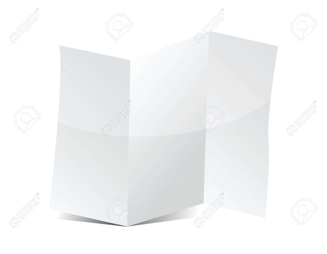 Trifold brochure presentation board for your design illustration Stock Vector - 18278903
