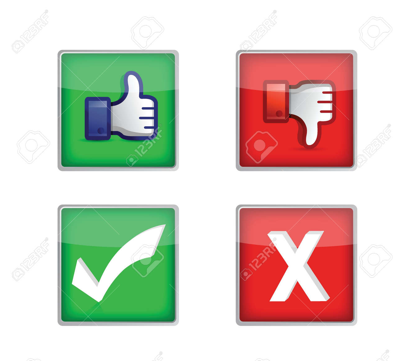 Set of voting web buttons illustration design over white Stock Vector - 18279011