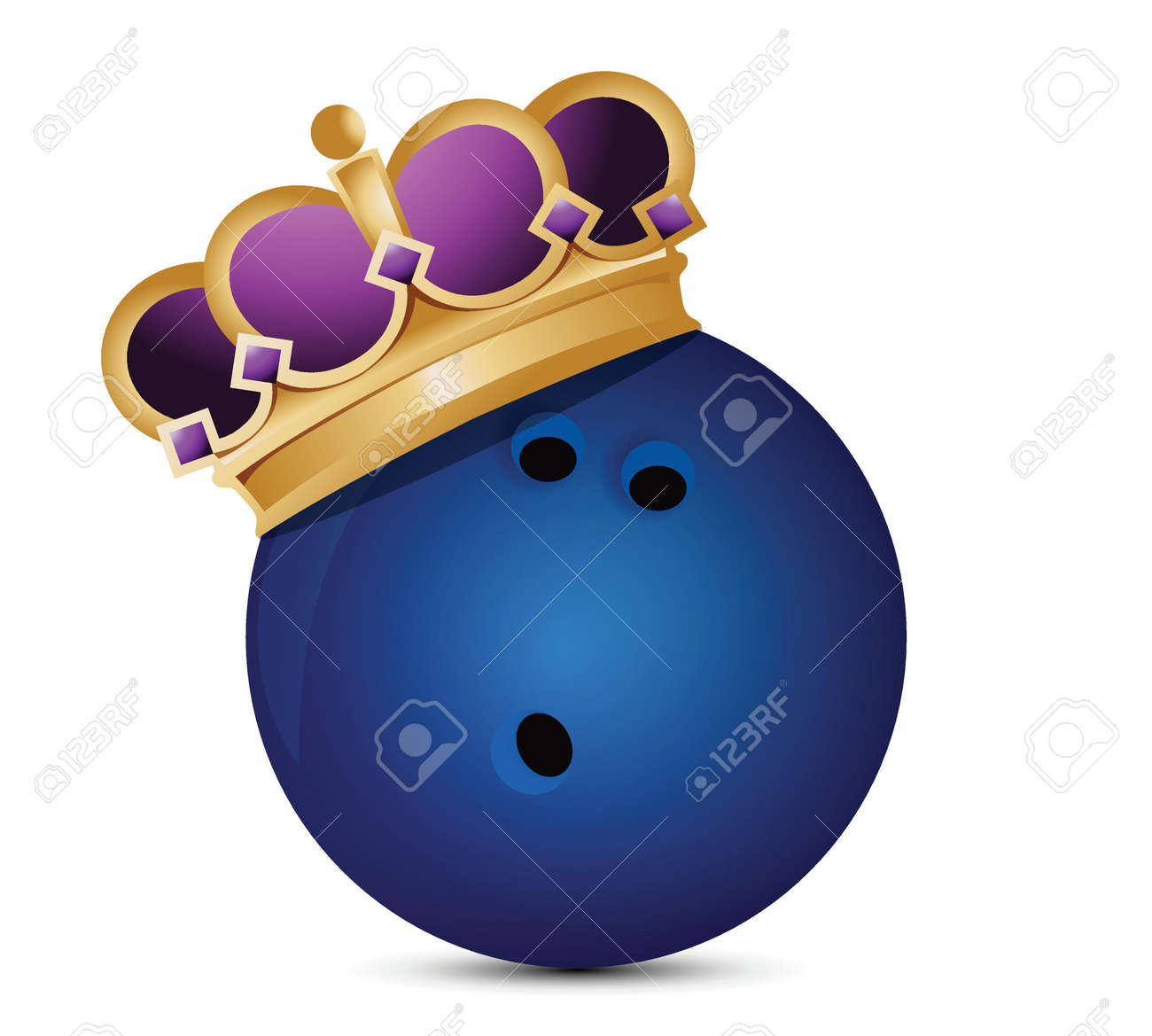 Bowling ball with a crown illustration design over a white background Stock Vector - 18487123