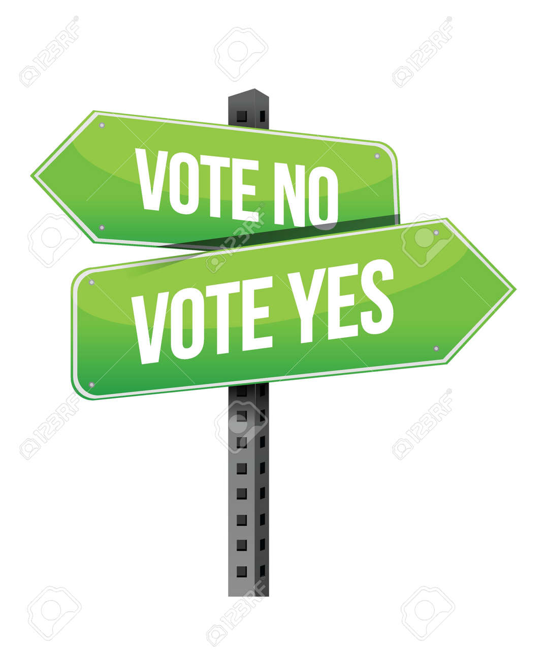 vote yes or no road sign illustration design over a white background Stock Vector - 18487039