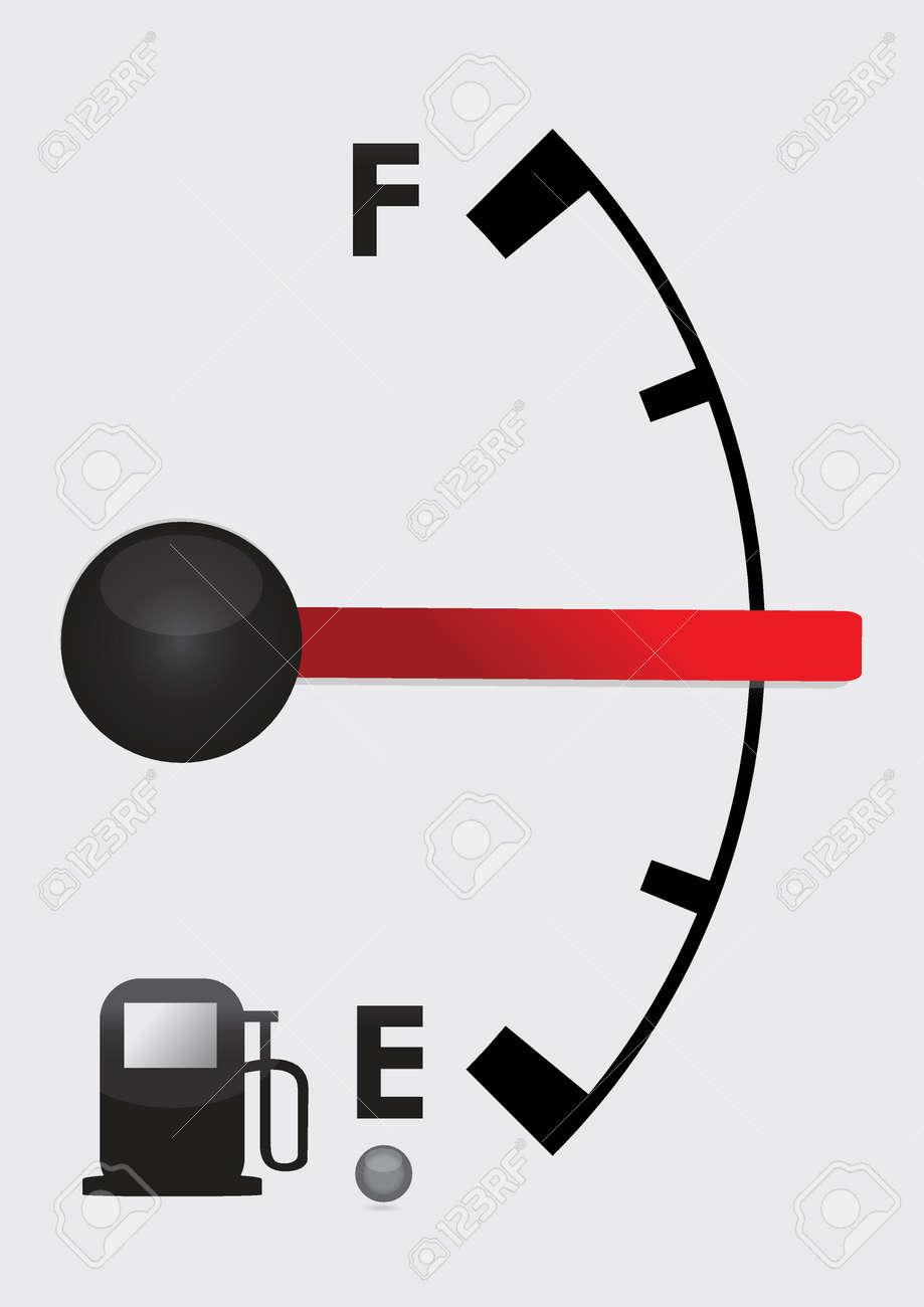 detailed gas tank, half full or half empty. Illustration design Stock Vector - 18561363