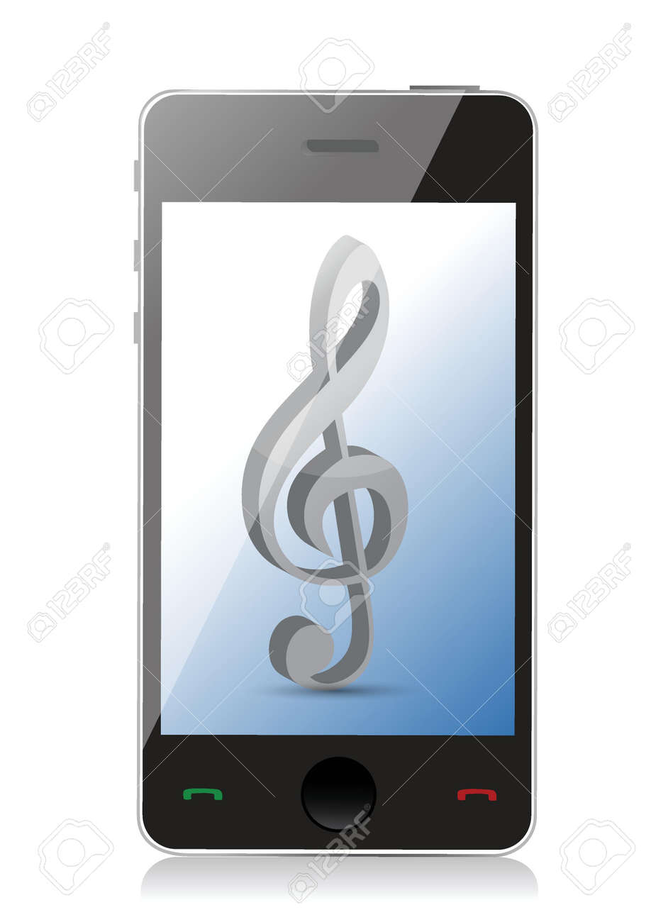 music phone icons illustration design over white Stock Vector - 18560702