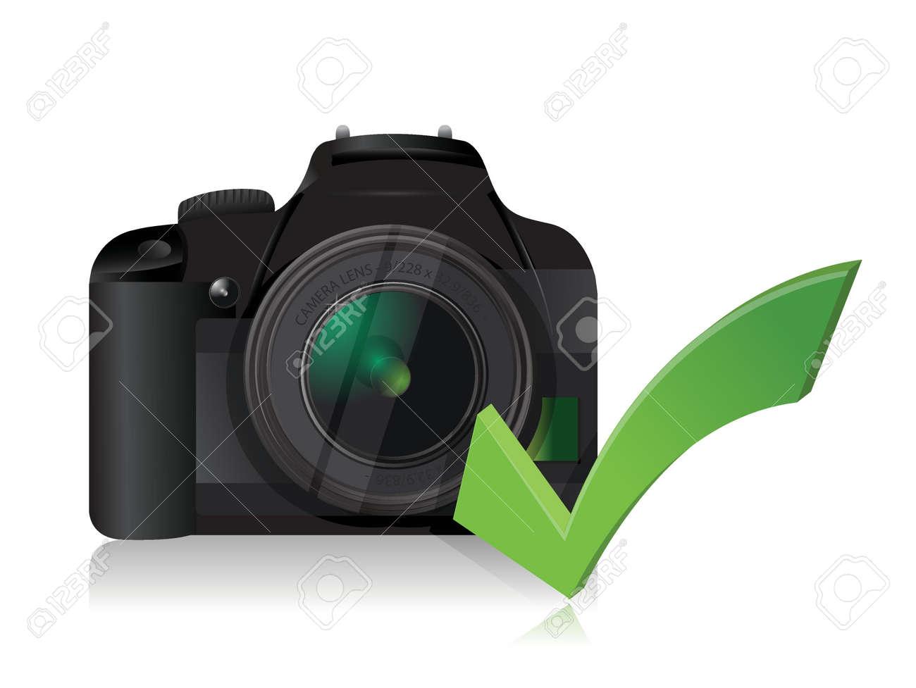 カメラが白地に細かいイラスト デザインを作動 ロイヤリティフリー
