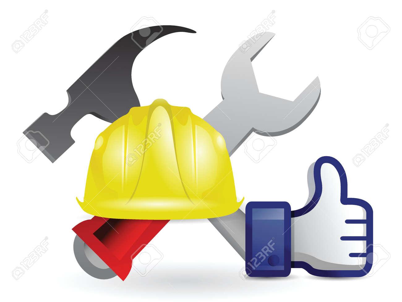 like under construction sign illustration design over white Stock Vector - 18806033