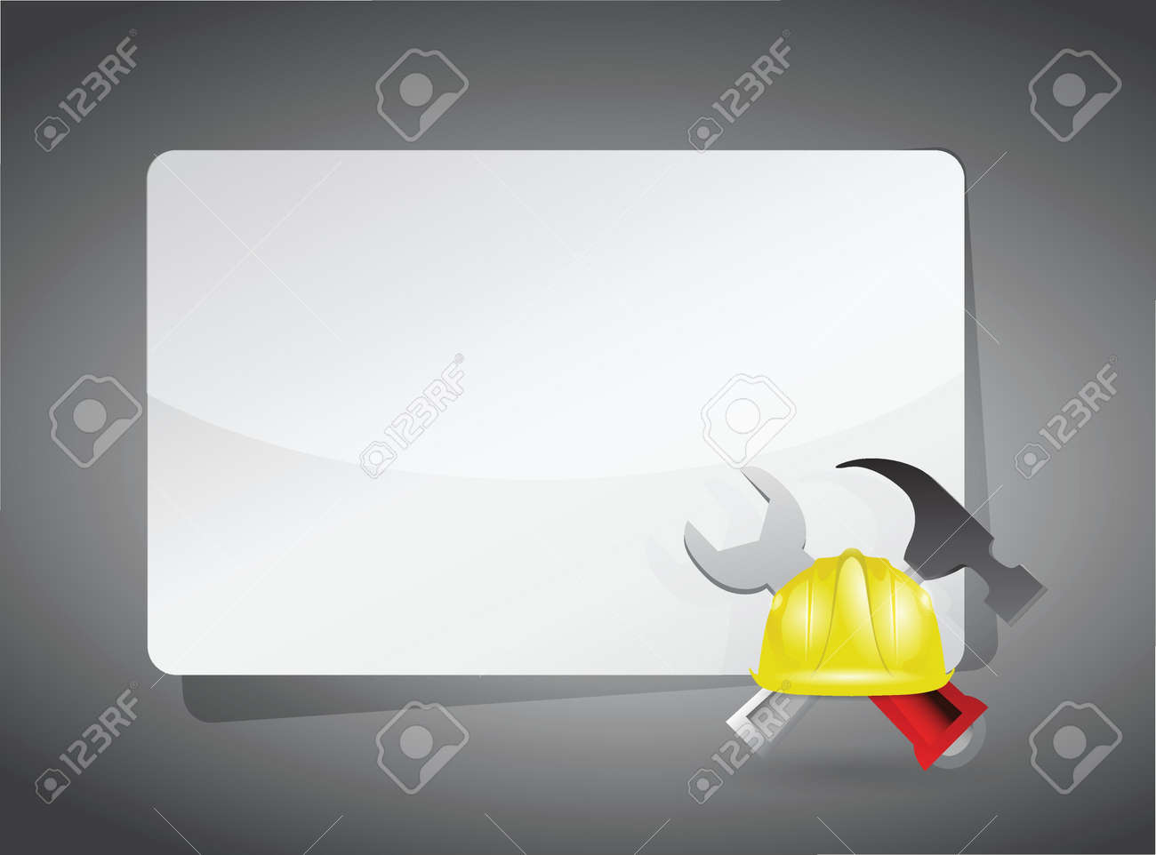 message text space construction illustration design over a grey Stock Vector - 18806043