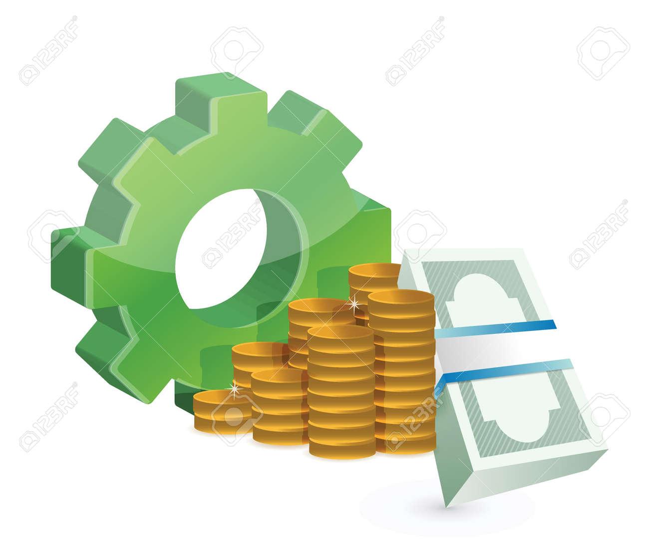 industrial business profits concept illustration design over white Stock Vector - 18857777