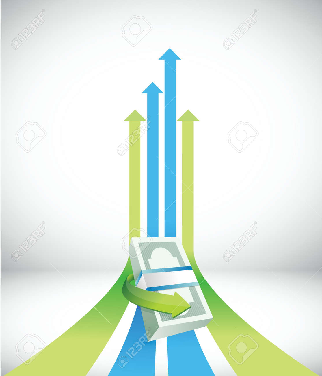 successful financial graph illustration design over a white background Stock Vector - 18857696