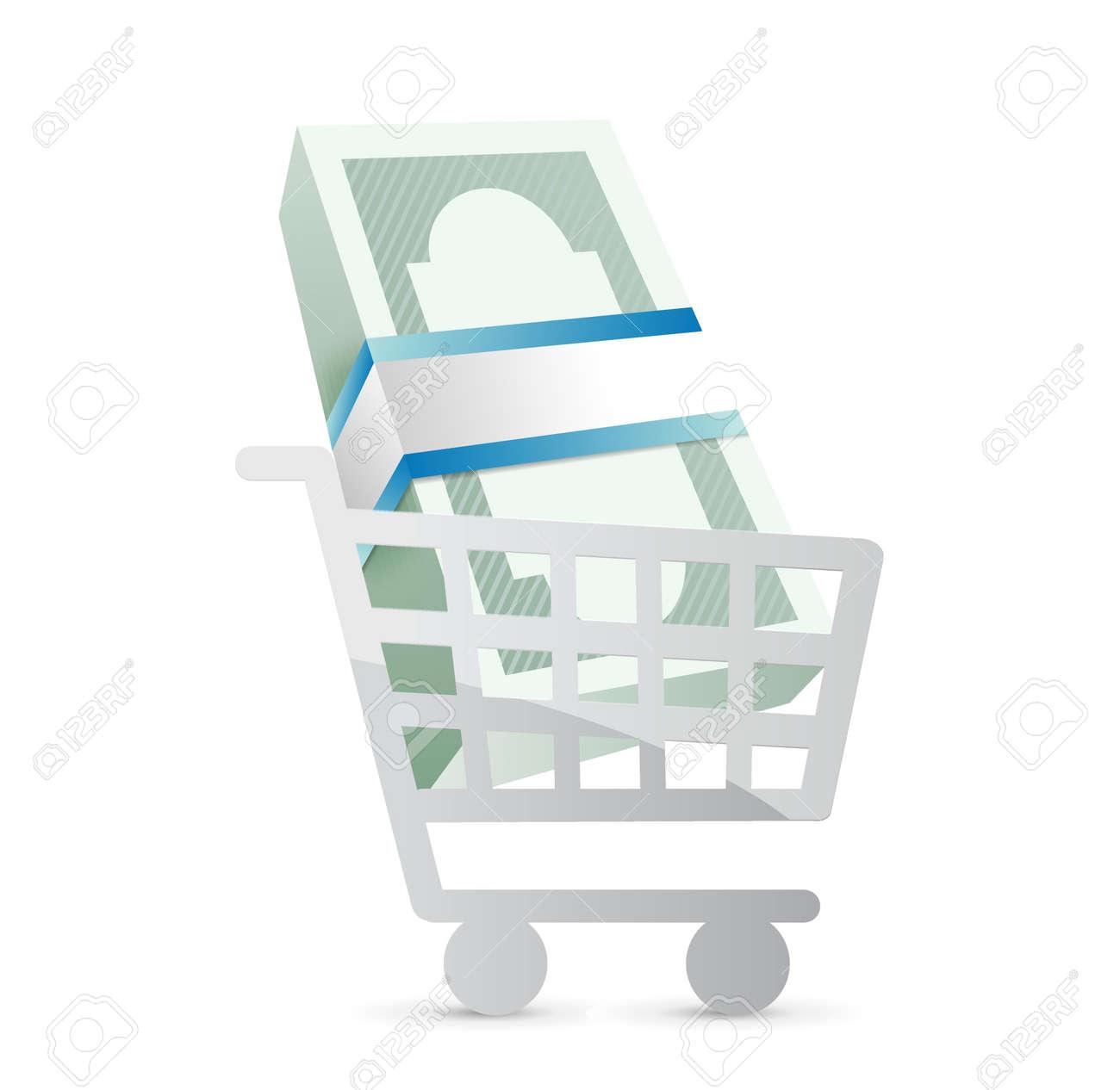 ショッピング カート イラスト デザイン白い背景上のビジネスの
