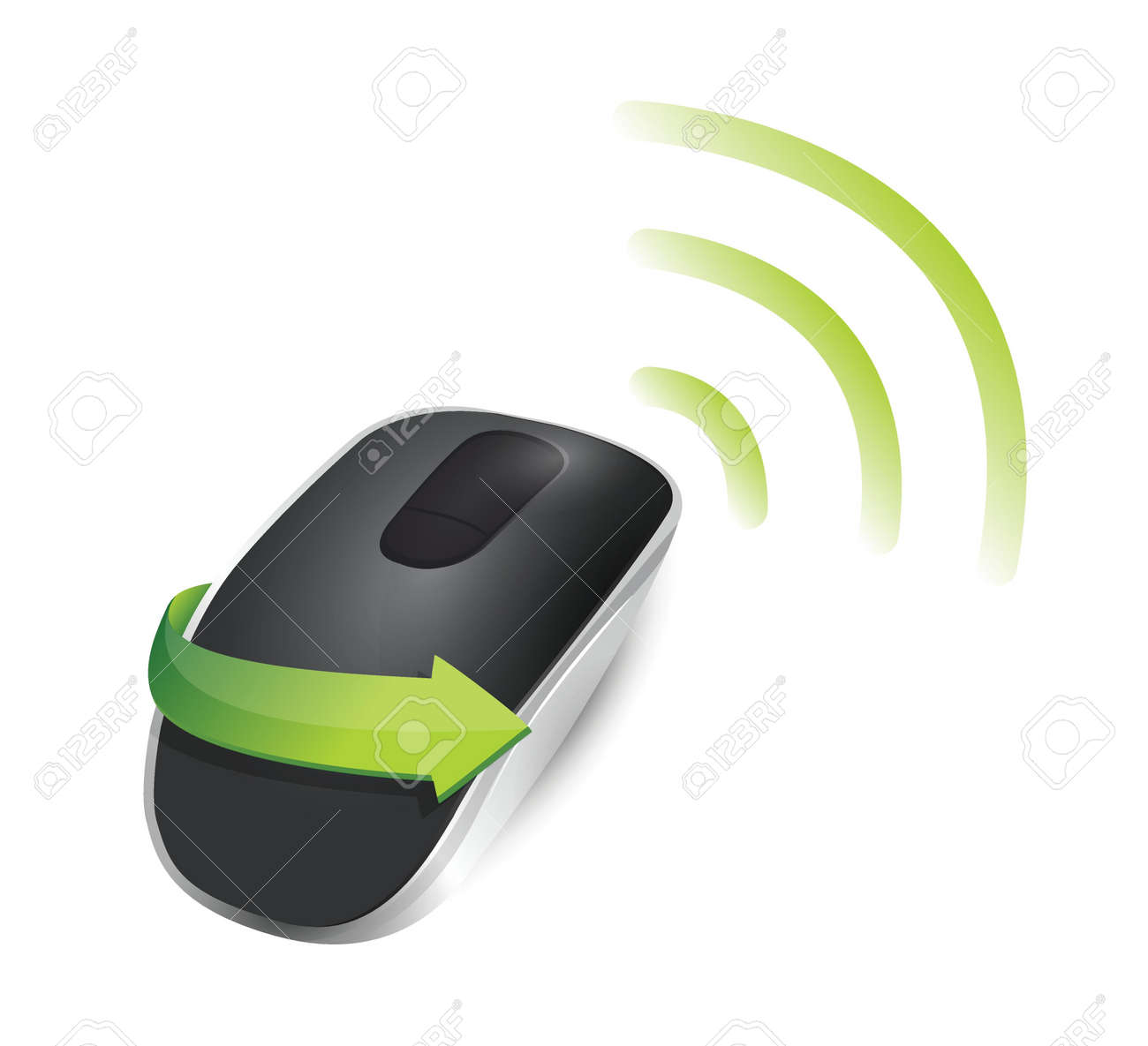 wifi Wireless computer mouse isolated on white background Stock Vector - 18913062