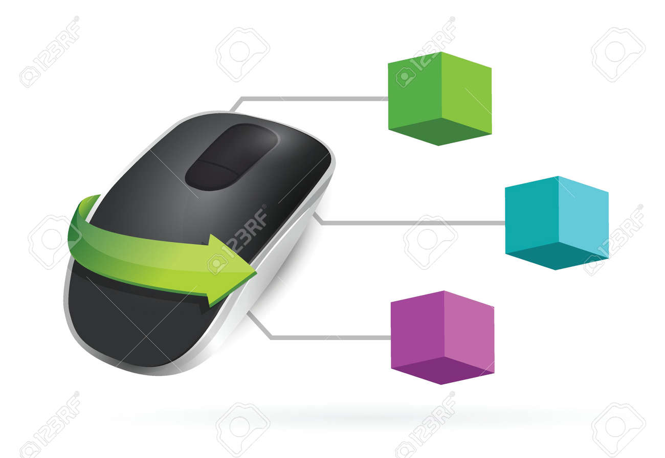 Brilliant 3D Box Diagram Wireless Computer Mouse Isolated On White Background Wiring 101 Ferenstreekradiomeanderfmnl