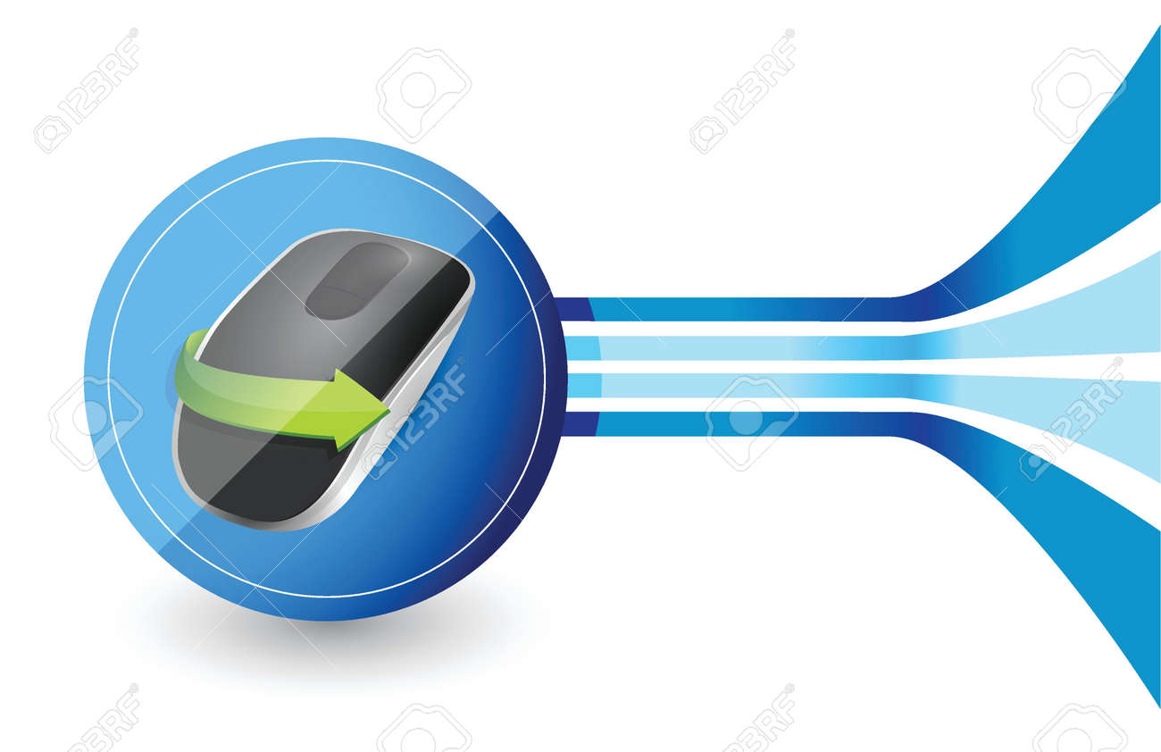 design Wireless computer mouse isolated on white background Stock Vector - 18965978