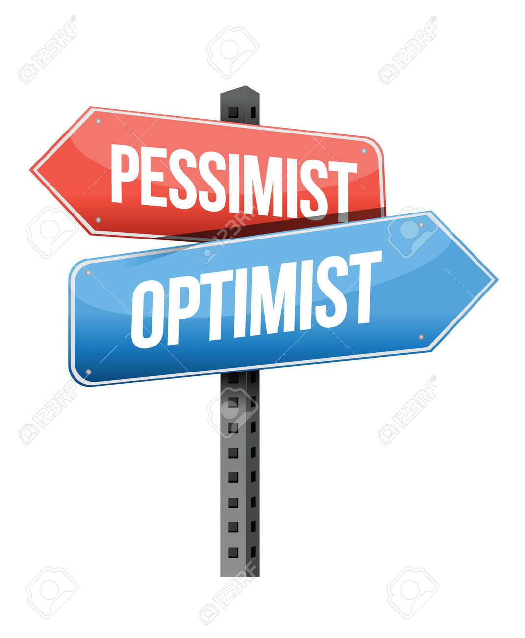 worksheet Synonym Antonym pessimist optimist road sign illustration design over a white vector background