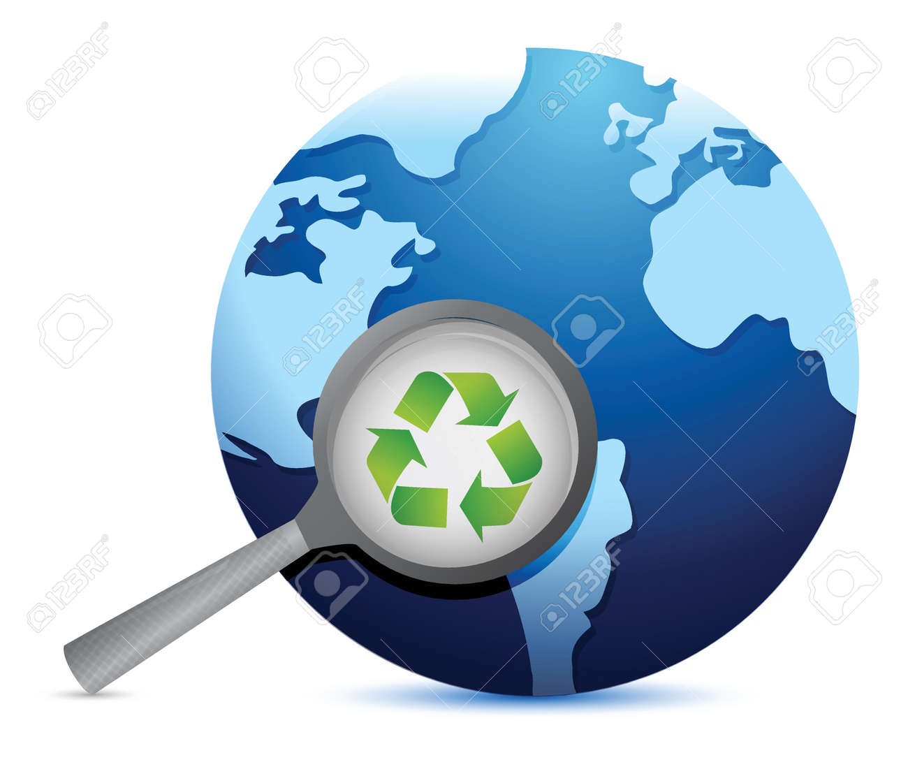 earth recycle earth lifeline illustration design over a white background Stock Vector - 19139365