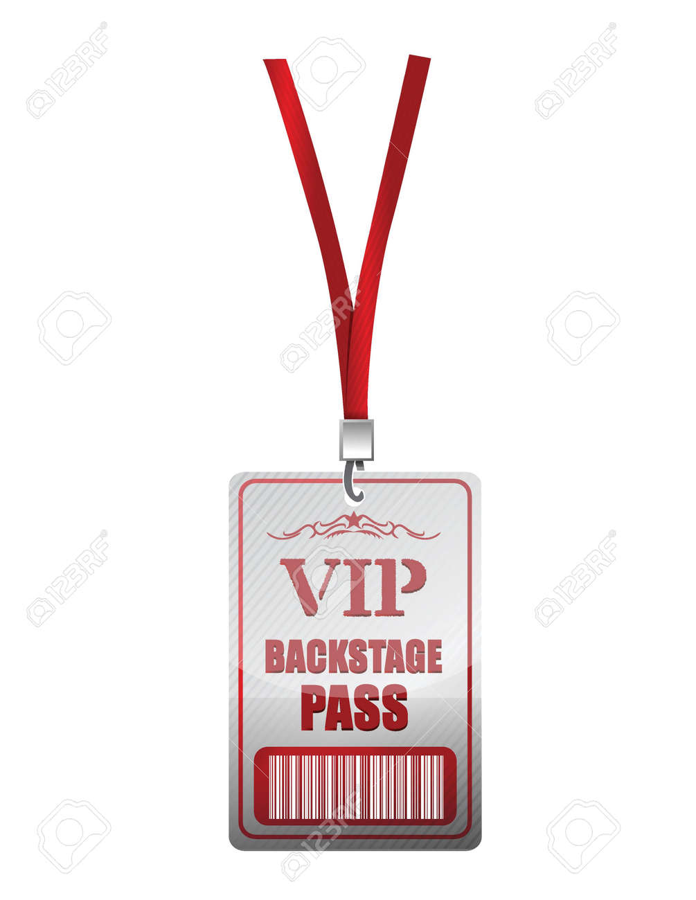 Backstage pass vip illustration design over a white background Stock Vector - 19311293