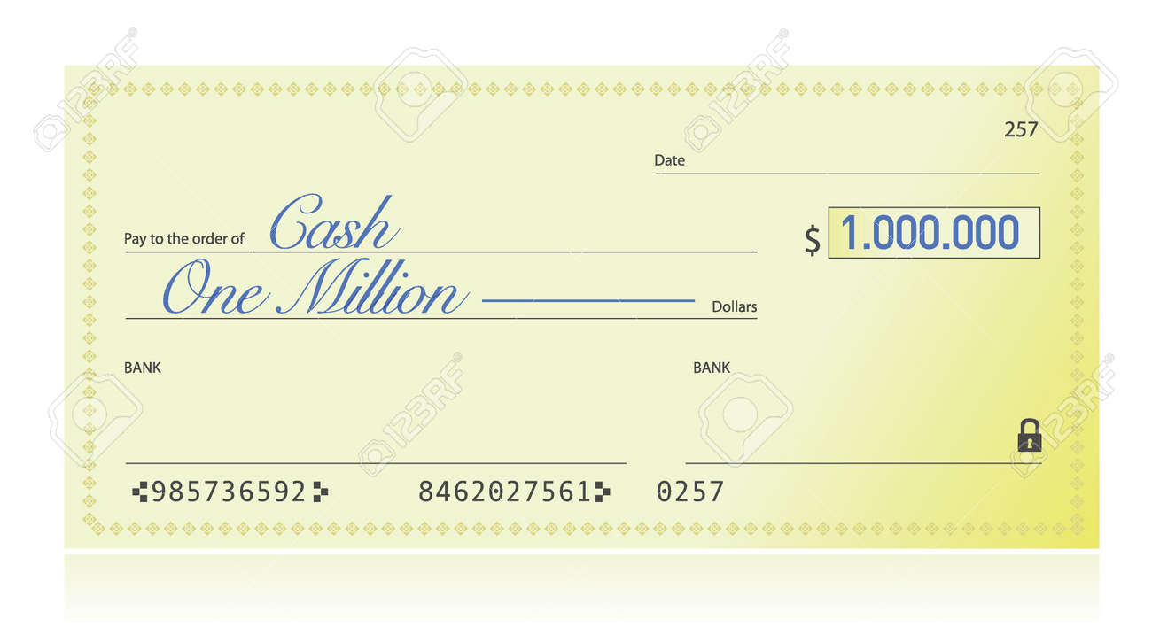 Image result for million dollar cheque