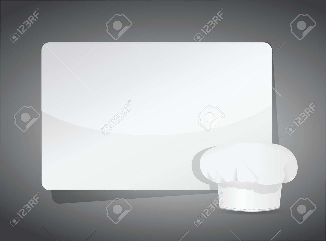 recipe template - chef hat on the blank paper sheet, illustration