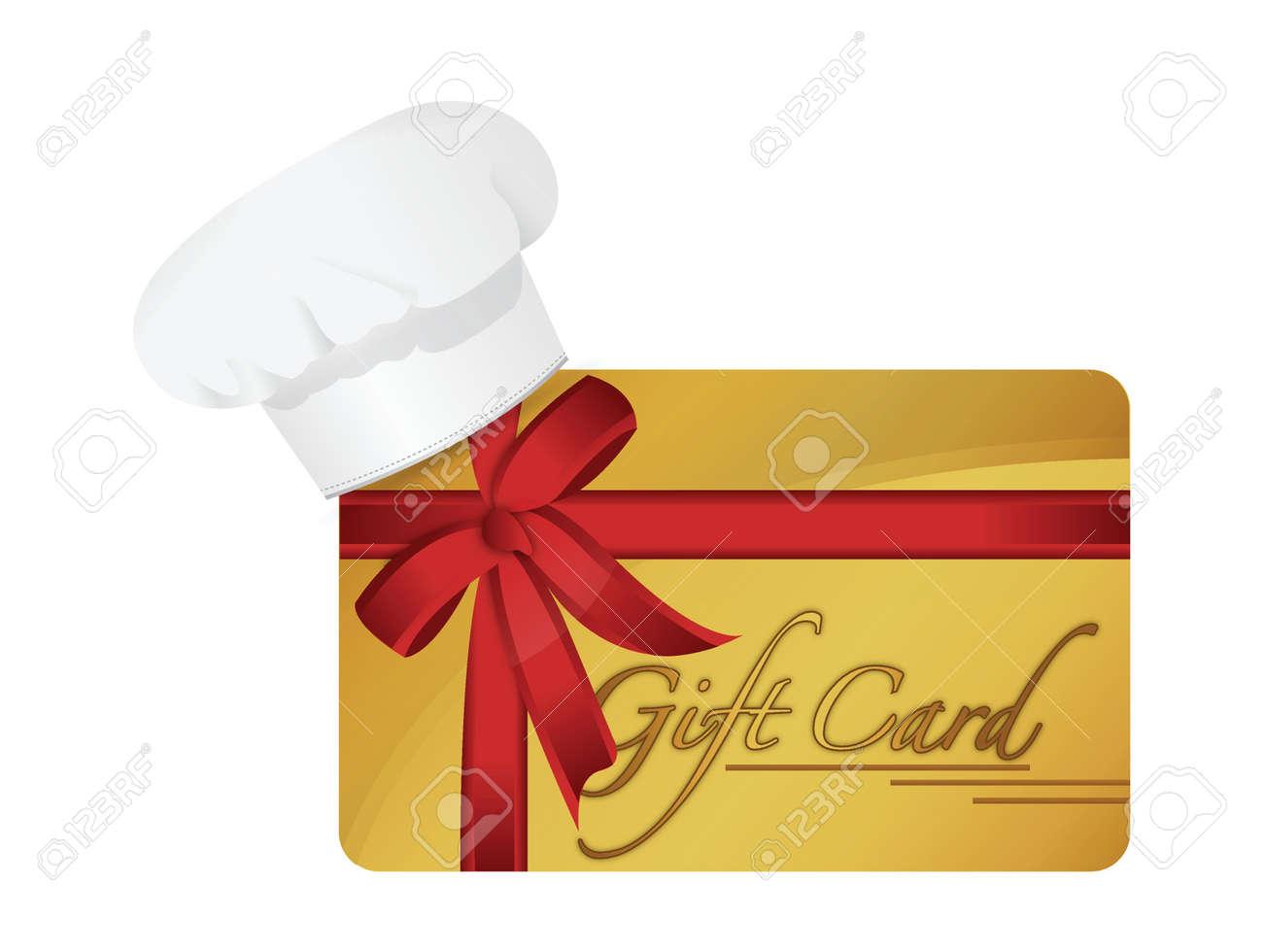 restaurant gift card illustration design over a white background Stock Vector - 19802504