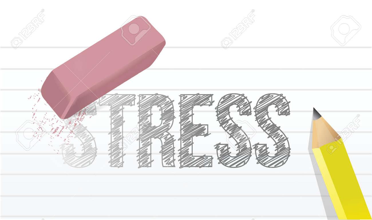 erase stress concept illustration design over a white background Stock Vector - 19910897