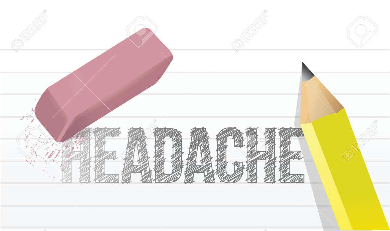 erase headache concept illustration design over a white background Stock Vector - 20046305