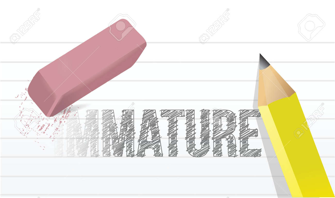 change immaturity concept illustration design over a white background Stock Vector - 20046311