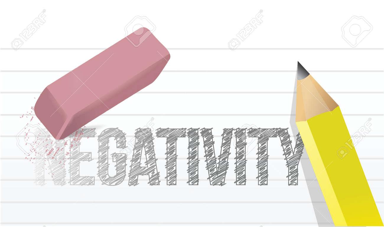 erasing negativity concept illustration design over a white background Stock Vector - 20046317