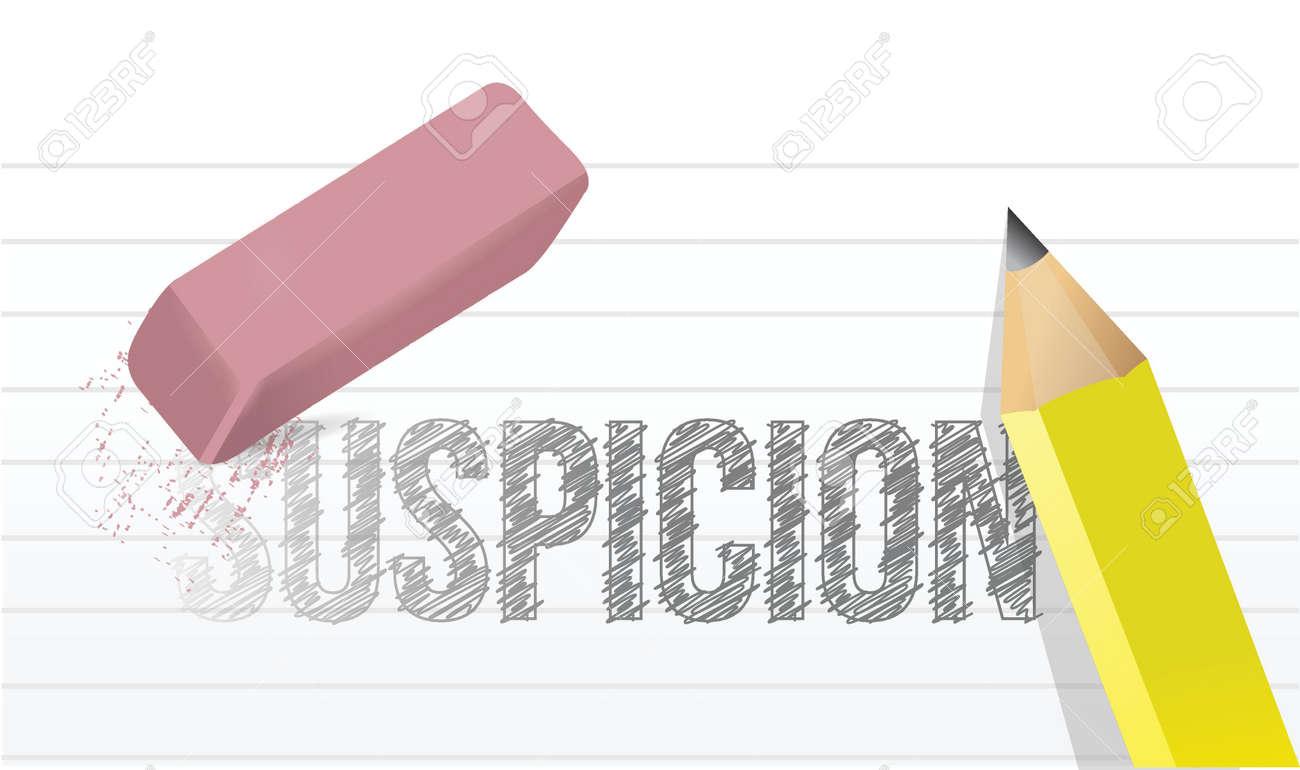 erasing suspicion concept illustration design over a white background Stock Vector - 20046309