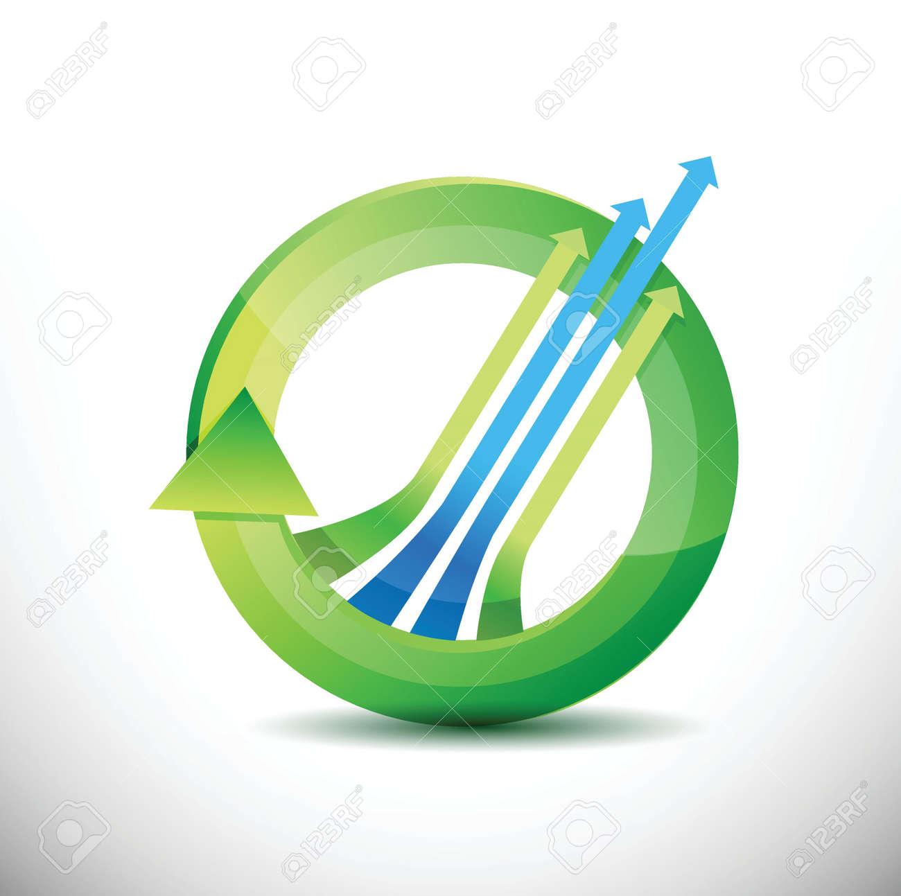 leader arrow 360 design concept illustration design over white Stock Vector - 20046720