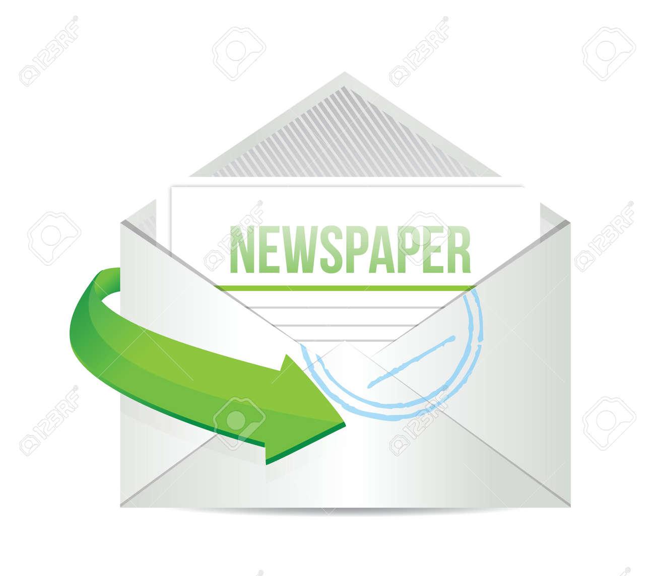 newspaper email information concept illustration design over white Stock Vector - 20068980