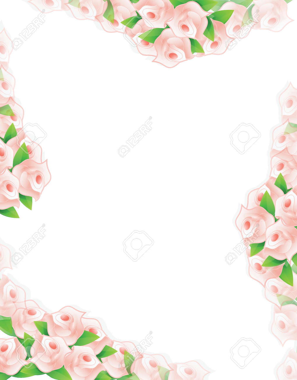 pastel color flowers illustration designs over a light background Stock Vector - 20151972