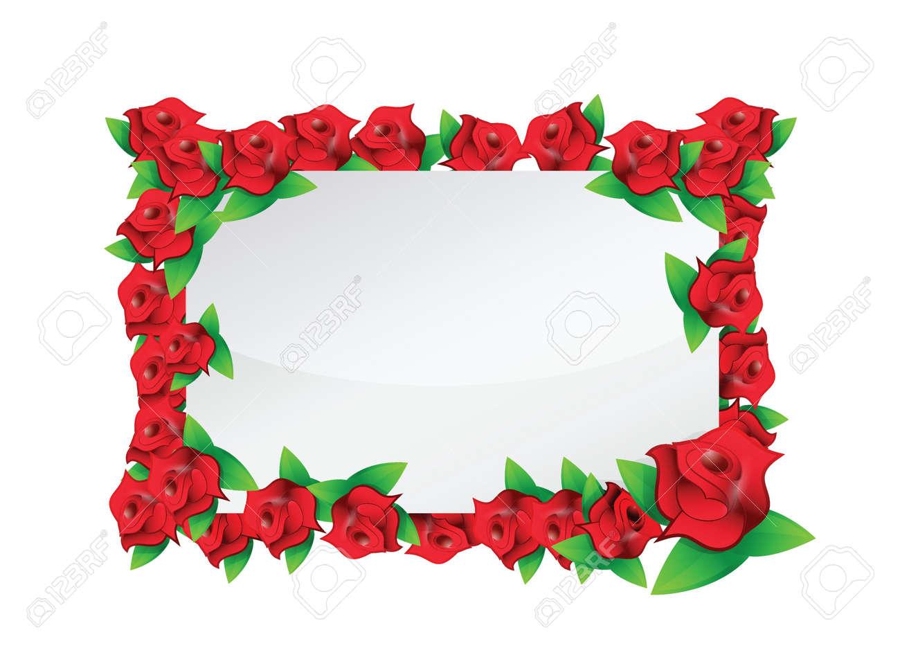 flower red frame illustration design over a white background Stock Vector - 20151967