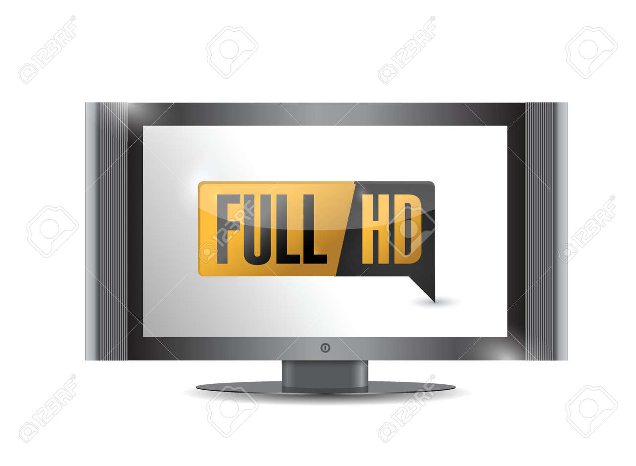 tv with Full HD. High definition button. illustration design Stock Vector - 20387345